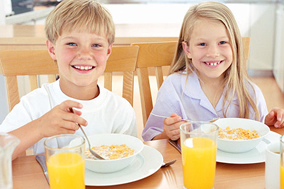 Rules Of Parenting - # - Brother and Sister Having Breakfast