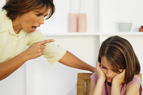 Rules Of Parenting - # - Mother Daughter Yelling At Table